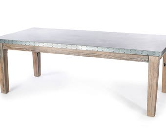 cambridge dining table zinc top dining table zinc dining table
