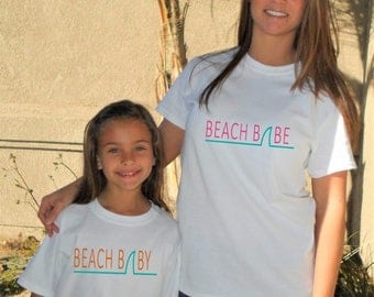 Mommy & Me Beach Babe Shirts