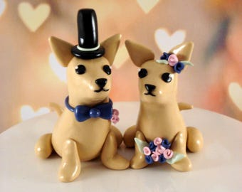 Chihuahua Cake Topper Cake Decoration Wedding Cake Topper Wedding Anniversary Cake Topper Keepsake Chihuahua Wedding Cake