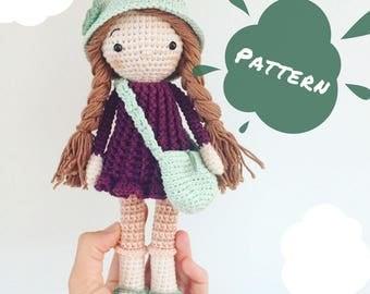 Abigail   Crochet Pattern, Crochet Doll Pattern, Amigurumi Pattern, Amigurumi Doll, Handmade Doll