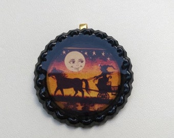 Vintage Style Witch Pendant