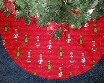"Grinch tree skirt 36"" wide"