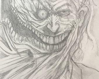 Two Face Joker Pencil Art