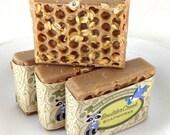 Honey Almond Oatmeal- Soap- Handmade Cold Process Soap Batch #216