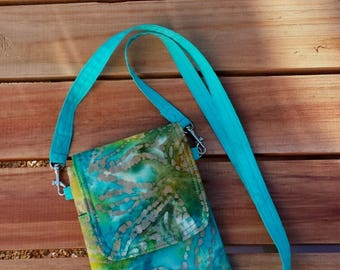 Cell Phone Purse, Seaside, Crossbody, Shoulder Bag Pouch Case, Handmade to Fit iPhone 5, 6, 6+, 7, Samsung s4, s5, s6, s7 & more
