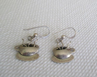 FAR FETCHED Co. Earrings Cup of Steaming Coffee Espresso Cup MEXICO