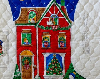 Cranston Print Works | VIP | The NIGHT Before CHRISTMAS | Jumbo Christmas Stocking | Santa Claus | Quilted Fabric Panel | Hard To Find