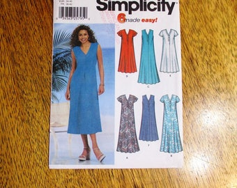BOHO Flared Summer Dress - Easy to Sew A-Line Tent Dress (6 Made Easy) - Sizes (8 - 10 - 12 - 14) - UNCUT ff Sewing Pattern Simplicity 7217