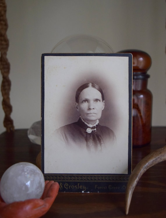 Grace in the kitchen, grace in the hall ~ Antique photograph, Portrait, Victorian, Farmhouse