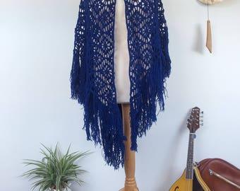 Boho Blue Shawl