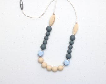 Silicone Teething Necklace | Nursing Necklace | Breastfeeding Necklace | Teething Necklace for Mom | Chewelry | Teething Jewelry | Serenity
