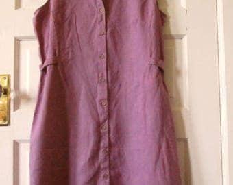 J Jill  Sleeveless Linen Dress, M