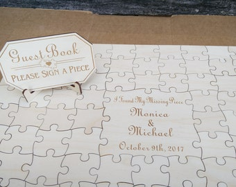 Guest Book Puzzle Etsy