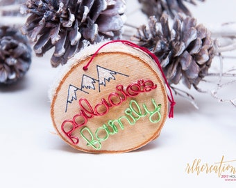 Personalized Wood Ornament / Wooden Name Ornament / Custom Christmas Ornament / Wood Slice Ornament / Wooden Ornament / Rustic Ornament