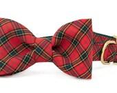 Crew LaLa™ Beaufain Plaid Bow Tie Dog Collar