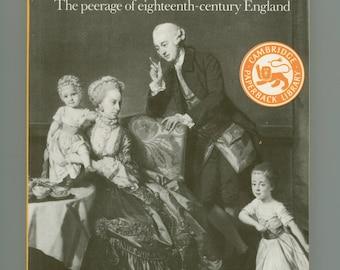 English History. Aristocratic Century : The Peerage of Eighteenth - Century England by John Cannon, Cambridge University Press, Vintage Book