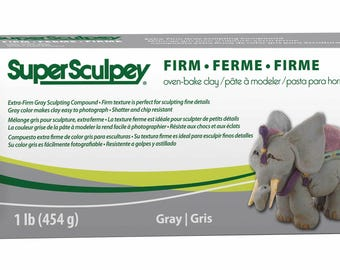 1 Lb. - Super Sculpey Firm (Gray)