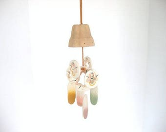 Wind chime, dome chime, ceramic wind chime, multicolor