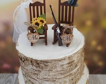 Owls Wedding Cake Topper Winter Wedding Fall