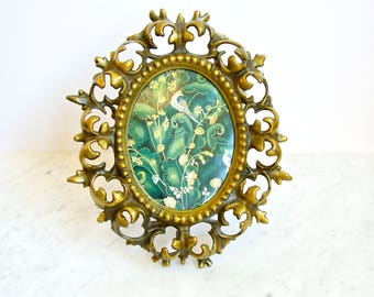 Ornate Oval Brass Picture Frame
