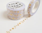 Slim Gold Foil Star Washi Tape