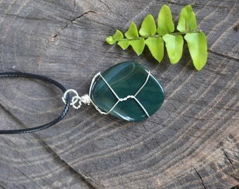 Bloodstone Necklace, Mens Stone Necklace, Bloodstone Jewelry, Dark Green Stone, Christmas Gift, Fall Jewelry, Green Bloodstone, Accessories