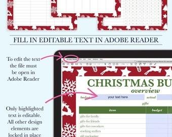 Christmas Planner Printable, Holiday Planner, Christmas Planner Kit, Holiday Organization Printable, Christmas Budget, Wish List
