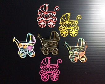 Handmade, Baby, 2 Different Buggies, 6 Buggies, Assorted Colors, Sizzix
