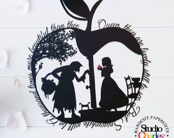 Snow White's Apple Papercutting Template • Paper Cut Template • DIY Paper Cutting • Fairytale • Personal Use Only