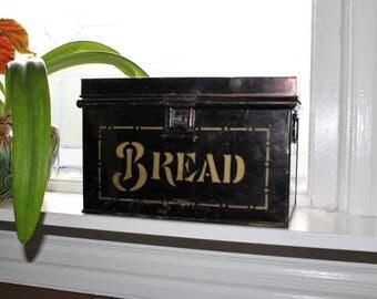 Antique Tin Bread Box Rustic Farmhouse Decor