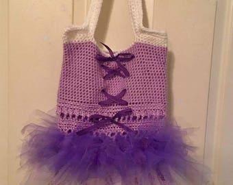 Crocheted Tutu Dance Bag