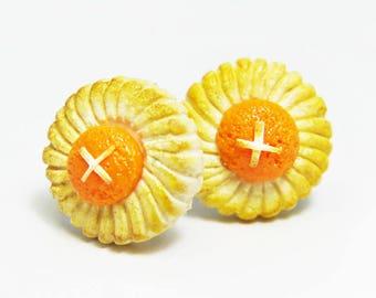 Pineapple tart biscuits earrings
