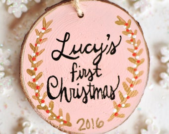 Baby's First Christmas Ornament, Personalized Ornament Baby, 1st Christmas Ornament, Custom Baby Girl Ornament, Baby Keepsake Gift, New Baby