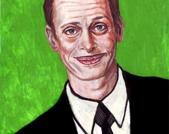 John Waters watercolor painting 15x20
