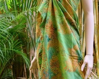 Green Beach Sarong, Pareo, Wrap