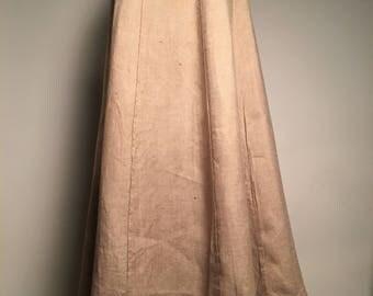 Edwardian Linen Walking Skirt