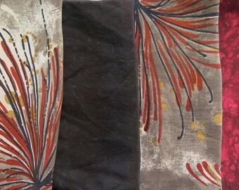 Fat Quarters, Silk Fabric, Sari Silk, FQ 5