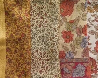 Fat Quarters, Silk Fabric, Sari Silk, FQ 145