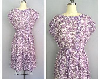 Violetta dress | vintage 1950s dress | 50s floral sun dress | m - l