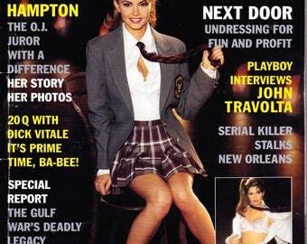 Vintage Playboy Magazine March 1996 With Tracy Hampton, O.J. Simpson, Dick Vitale, Gulf War, Stripper, John Travolta And Killers