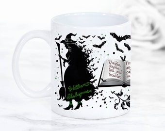 """Shakespeare's Macbeth Witches Mug, Something wicked this way comes"""",  Literary Quote, Gothic Book Mug, Gifts For Bookworms, UK"""