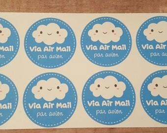 Kawaii Cloud Air Mail Stickers