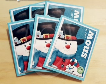 Winter snowman gift favor tags Holiday favor bags Christmas snowman cards snowman gift tags Christmas  Winter favor tags Snowman favor tags