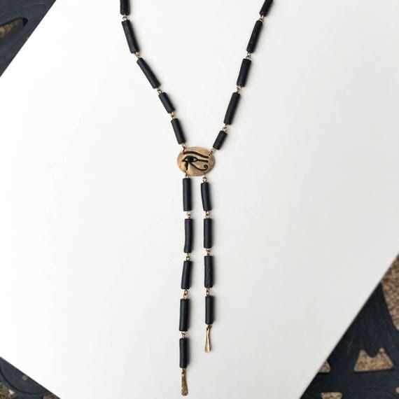 Eye of Horus Bolo Necklace