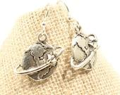 Globe Earrings Travel Earrings  World Traveler Gift Travel Gift Planet Earth  Traveller Earrings - E177