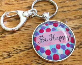 Inspirational Keychain - Cabochon Keychain - Worry Stones - Customizable - Custom Keychain - Colorful Keychain - Gifts for Her