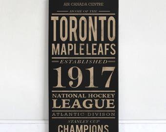 Toronto Maple Leafs - Wood Sign