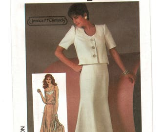 Simplicity 6783 1980s Misses Spaghetti Strap Camisole, Gored Flared Skirt, Unlined Loose Jacket Womens Sewing Pattern Size 12 Bust 34  UNCUT