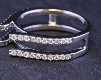 14 Kt, White Gold, Diamond, Ring Guard