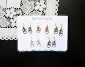 Earrings Variety Pack Set of 5 Pairs of Dainty Hoop Minimalist Earrings in Every Metal Color - Gold, Silver, Gunmetal, Bronze Earrings